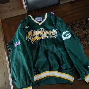 Vintage Starter Green Bay Packers Jacket Green L